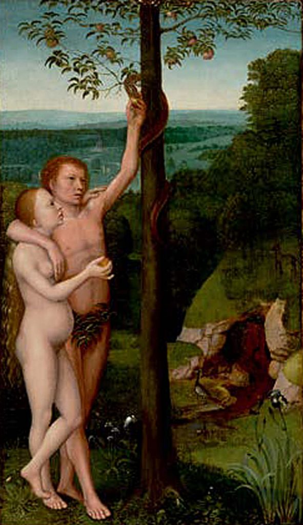 Adriaen Isenbrant_The Temptation of Adam and Eve