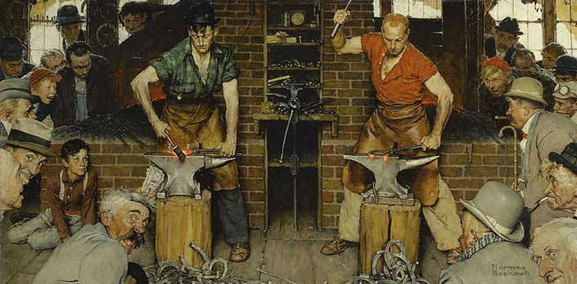 Norman Rockwell's Blacksmith's Boy-Heel and Toe