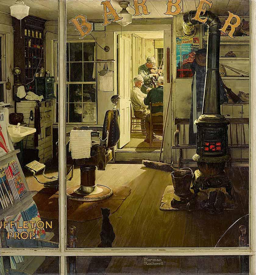 Norman Rockwell - Shuffleton's Barbershop