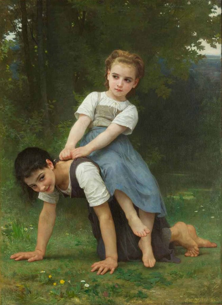 William Bouguereau - The Pony Back Ride