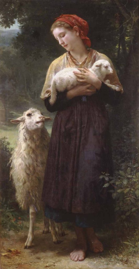 William Bouguereau - Newborn lamb